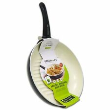 "Non-Stick Grill Fry Pan Frying Skillet 11"" Green Life Healthy Ceramic griddle"