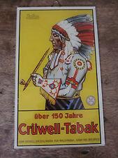 Altes Crüwell Glasschild Schild Reklamebild Reklameschild Türschild Indianer