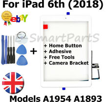 Touch Screen Glass Replacement + Home Button For iPad 6th 2018 A1893 A1954 WHITE