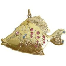 "December Diamonds Goldtone ""Diamond"" Fish Holiday Tree Ornament, 3""H"