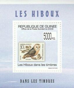 Small Block Owl Guinea 2009 Mint 1807