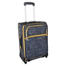 """Lotta Jansdotter 21"""" Spinner Rolling Luggage Carry On ~ NWT Anni Grey & Gold"""