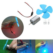 DIY Kits 6-9V Wind Turbine Micro Motor/ Mini Blue Leaf Paddle/ Diodes/ Cables