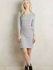 Amadi Anthropologie Size Medium Knotted Knit Striped Dress Long Sleeve Jersey