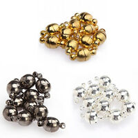 10 Pcs 6mm/8mm Round Ball Magnetic Clasps All Match DIY Necklace Tools Rapture
