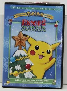 Pokemon - Pikachus Winter Vacation Collectors Edition DVD 2004 Christmas Movie