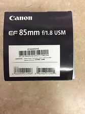 Canon EF 85mm f/1.8 USM Lens New In Open BOX