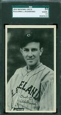 1936 National Chicle R313 Card - Oral Hildebrand - Cleveland Indians - SGC 55