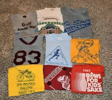 Souvenir Sports Single Stitch Screen Stars Mens VINTAGE T-Shirt LOT OF 9!