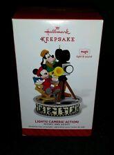 2014 Hallmark Lights! Camera! Action! Mickey and Goofy Magic Disney Ornament New