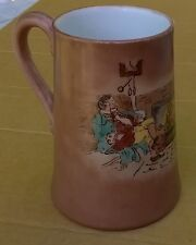 1956 M. Holter's Hand Painted 2 Lords Lounging at a Fire Smoking a Pipe Tankard
