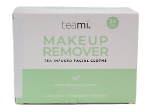 Teami Blends Makeup Remover Tea Infused Facial Cloths 24ct Travel Cloths New NIB