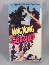 VHS Video Tape King Kong VS Godzilla Hollywood Movie Greats Rare Out of Print