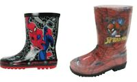 Boys Spider Man Wellingtons Welly Wellies Children Infant Snow Rain UK Sizes 8-2