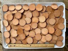 110 Leather Pre-cut Rosettes for Western Design Leathercraft for Conchos Natural