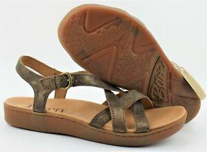 Born Women's Mahala Bronze D53718 Bronzo Met Suede Size 8 M 39 EUR