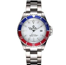 Reginald Swiss Luxury  Homage Submariner Stainless Steel  Men's Pepsi Watch.
