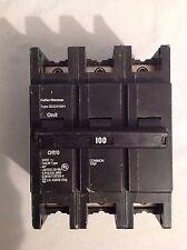 130Cutler Hammer QCD3100H 100amp 3pole breaker