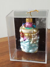 Unique Treasures Handcrafted Glitter Glass Baby Slumber Holiday Ornament (New)
