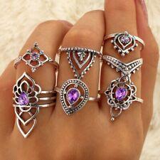 14pcs Silver Bohemian ring Above Knuckle Ring Midi Finger Tip Rings free UK p&p