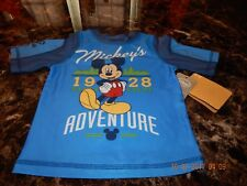 Disney ; 4T Boys Short Sleeve Mickey Mouse Shirt,/ Dry Fit/ Upf 50+ Brand New