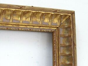 ART NOUVEAU, HAND CARVED GILDED WOOD FRAME FOR PAINTING 26 X 20 INCH