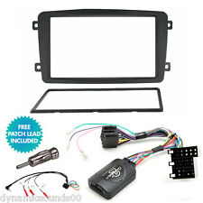 Double Din Stereo Fascia Fitting Kit, Steering Control For Mercedes C Class W203