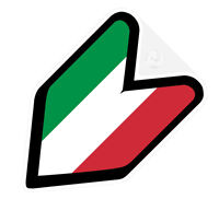 # JDM WAKABA BADGE ITALY ITALIAN Car Decal Flag not vinyl sticker #