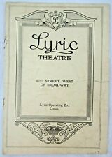 "ORIGINAL 1925 LYRIC THEATRE PROGRAM - THE MARX BROTHERS IN ""THE COCOANUTS"""