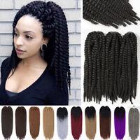 "US 18"" Jumbo Mambo Twist Crochet Braiding Braids Hair Extension Brown Aubur Grey"