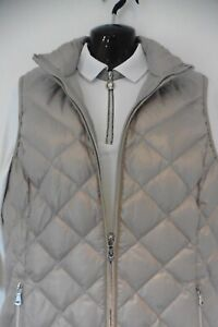 £388 NEW GOLFINO WHITE & GOLD TRIM TOP & GILET VEST WITH DOWN FILLING UK 12 GOLF