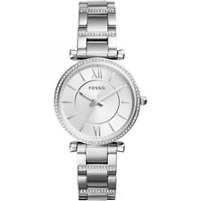 Fossil Women Carlie Three-Hand Stainless Steel Watch ES4341 NWT