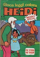 special HEIDI N.14 IL RITORNO DI HEIDI a fumetti gioca leggi colora ediboy 1979