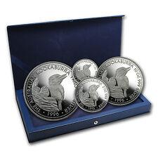 1996 Australia 4-Coin Silver Kookaburra Proof Set (No COA) - SKU #83836