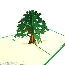 Pop UP Karte *Baum des Lebens* 3D Klappkarte, Geburtstagskarte, Lebensbaum Grün