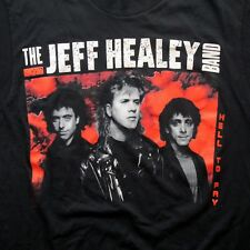 Vtg Jeff Healey Band T Shirt M/L Hell to Pay World Tour 1990-91 50/50 Cotton