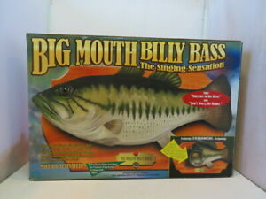 Vintage Big Mouth Billy Bass Singing Fish 1998 Motion Activated Gemmy