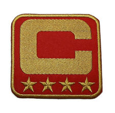 NEW NFL RED CAPTAIN GOLD STAR FOOTBALL LOGO EMBROIDERED IRON ON PATCH PO610
