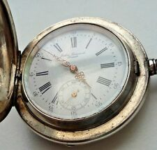 ANTIQUE 0,875 SILVER   GABUS GUINAND BRENETS POCKET WATCH