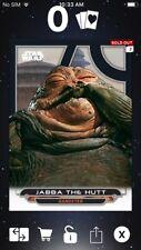 Topps Star Wars Digital Card Trader Galactic Files ROTJ Jabba Insert Award