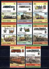Tuvalu / Funafuti - 1984 Locomotives / Trains - Mi. 21-36 specimen MNH