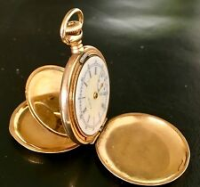 ANTIQUE JEWELRY GOLD 1906 ELGIN DOUBLE HUNTER B&B ROYAL POCKET WATCH FOR REPAIR