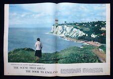 WHITE CLIFFS OF DOVER KENT J. ALLAN CASH PHOTOGRAPHER 2pp PHOTO ARTICLE 1957