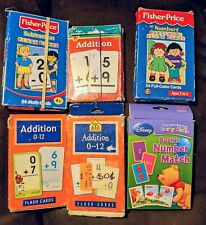 Vintage Flash Cards Learning Home School Supplies Math Lot of 6