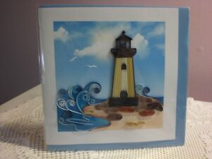 Quilling Cards LLC - 3D Lighhouse Note Card