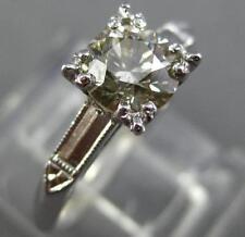 ANTIQUE .82CT OLD MINE DIAMOND PLATINUM SOLITAIRE FISHTAIL HEART ENGAGEMENT RING