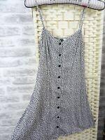 Vintage H&M tea dress ditsy floral slip sun  viscose short tiny size XXS D132