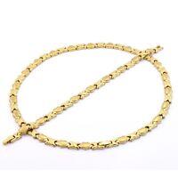 High Quality Hugs & Kisses Necklace Womens 14K Gold Stampato Bracelet Set