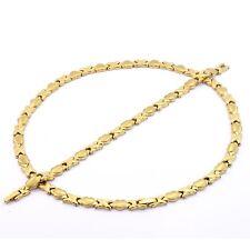 Womens 14K Gold Hugs & Kisses Necklace & Bracelet Set High Quality, Solid 2 Fn