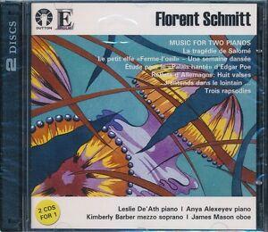 Florent Schmitt Music For Two Pianos CD NEW Anya Alexeyev Kimberly Barber